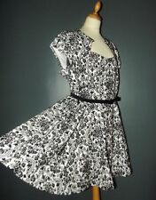 PRASLIN  ROBE DRESS RETRO FIFTIES CEINTUREE PANNE DE VELOURS  T UK 26 OU 56/58