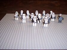 LEGO- STAR WARS- 13 STORM TROOPERS- 1 COMMANDER- LOT OF 14 -LIGHTLY PLAYED WITH