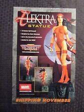 """2001 ELEKTRA STATUE Promo Poster 11x17"""" FVF 7.0 Daredevil"""