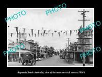 OLD LARGE HISTORIC PHOTO OF KAPUNDA SOUTH AUSTRALIA, THE MAIN St & STORES 1930 2