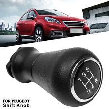 5 Speed Car Gear Manual Shift Knob Stick Shifter Universal Head Auto For Peugeot