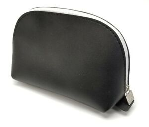 Saks FIfth 5th Ave Makeup Cosmetic Toiletry Zipper Travel Bag/Pouch United Air