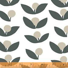 Lotta Jansdotter Windham Fabric Navy Glimma Beige SALE Cotton