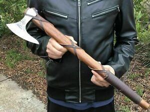 Custom Handmade Carbon Steel Viking Axes Outdoor Hunting Camping Axe Gift Idea