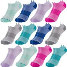 12 Pairs Sof Sole Women's No Show Athletic Performance Socks Fits Shoe Size 5-10