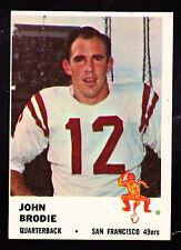1961 FLEER #59 JOHN BRODIE 49ers ROOKIE