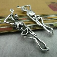 10pc Tibetan Silver Horror Skeleton Pendant Charms DIY Jewelry Making 298AF