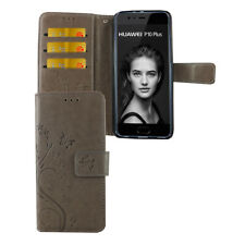 Huawei P10 Plus Custodia Cover per Cellulare Protettiva Flip Astuccio Grigio