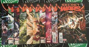 SECRET WARS #0-9 2015 Full Set! Hulk Thor Avengers Spider-Man X-Men Doctor Doom