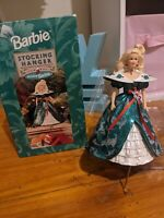Vintage Hallmark Holiday Christmas Barbie stocking hanger 1996 In Original Box