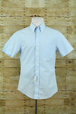 NEW Brooks Brothers Blue White Striped SeerSucker Casual Cotton Shirt Mens Sz S