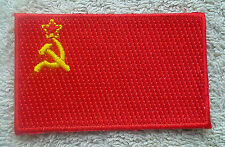 SOVIET UNION FLAG PATCH Embroidered Badge Iron Sew on 4.5cm x 6cm  USSR CCCP NEW