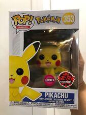 **IN HAND** EB Game EXCLUSIVE Funko Pop! Pokémon Flocked PIKACHU #353