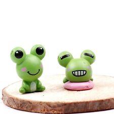 New listing 4 pcs Miniature Green Frog Fairy Garden Ornament Cute Terrarium Frog Us Seller
