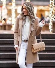 Topshop Camel Beige Nina Fur Collar Trench City Smart Slim Jacket Coat 4 - 18