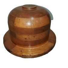 ANTIQUE WOODEN MILLINERY BOWLER  DERBY HAT FORM MOLD