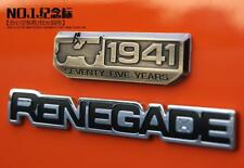 New Set OEM Renegade 75th 1941 Nameplate Emblem Badge for Jeep Wrangler Cherokee