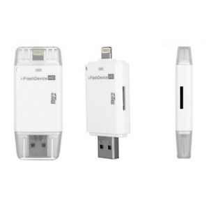 O11 I Flash Driver HD USB Disc For IPHONE IPAD Ipod OTG Micro SD Card Reader App
