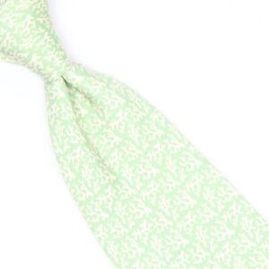 Vineyard Vines Mens Silk Necktie Light Green Cream Coral Sea Life Print USA