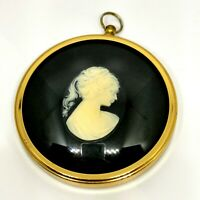 Miniature Cameo Picture Portrait. Framed. Victorian Style Art. Peter Bates.