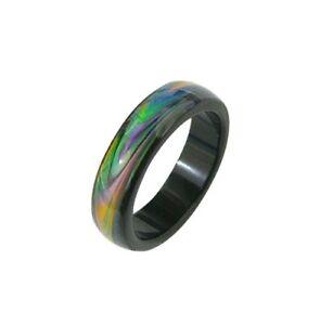 Opal Essence Oceans Mystique Mood Color Change Ring Band Sizes 6,7,8,9,10 USA