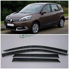 For Renault Scenic 2010-2015 Side Window Visors Sun Rain Guard Vent Deflectors