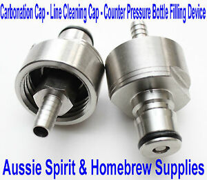 Carbonation Cap, Line Cleaning Cap, Counter Pressure, Bottle Filling Device Beer