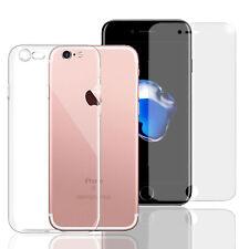 Handy Hülle + Panzerfolie für Apple iPhone Handy Tasche Glasfolie Case Etui