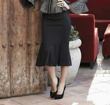 Midnight Velvet Fishtail Ponté Knit Skirt Black NEW size XL