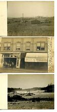 Downtown Store-Shop-Oregon City Scenes-RPPC-Vintage Real Photo Postcard Lot of 3