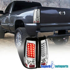 1999-2002 Chevy Silverado/ GMC Sierra 1500 2500 LED Tail Brake Lights Chrome
