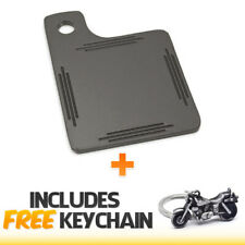 Black Motorcycle Inspection Sticker Renewal License Plate+Cruiser Keychain
