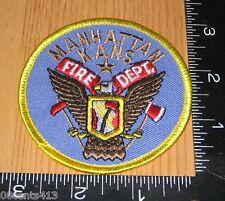 Manhattan Kansas Fire Department Cloth Circle Patch Only