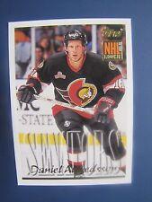 Daniel Alfredsson 1995-96 Topps Rookie Card # 369. Ottawa Senators.