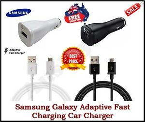 Samsung Galaxy Fast Charging Car/Wall Charger S10 S20 S8 S9 S7 S6+ NOTE 4 5 8 9