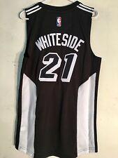 Adidas Swingman 2015-16 NBA Jersey Miami Heat Hassan Whiteside Black Fashion  XL