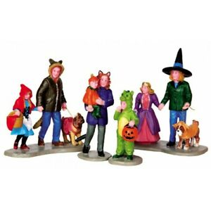 New Lemax Figurines Spooky 42217 Trick Or Treating Fun Set of 4  2021 Halloween