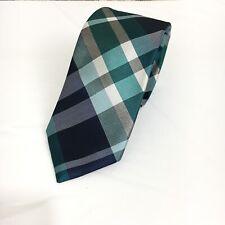 "Express Men's Skinny Narrow Silk Multi Color Plaid Striped Neck Tie 2.25"" NWT"