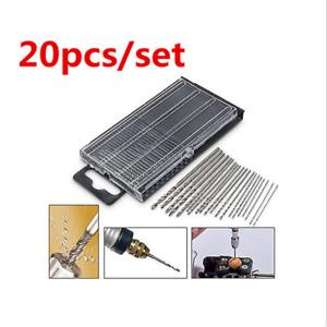 20pcs 0.3-1.6mm Mini Micro HSS Twist Drill Bit Set Drilling Craft Wood Tool