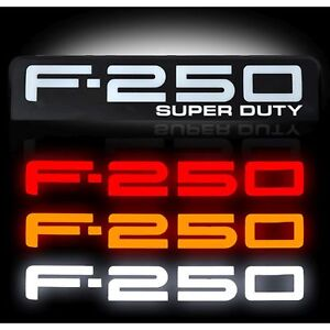 RECON 264185BK 08-10 Ford F250 Black Emblems Illuminated Side