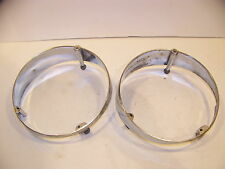1964 CHRYSLER IMPERIAL LH HEADLIGHT BASES PAIR OEM #2417627 LEBARON CROWN
