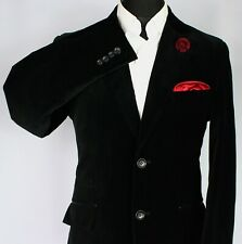 Scotch & Soda Black Velvet Blazer Jacket 40R SLIM FIT JACKET 3239