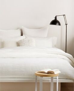 """DKNY Home City Pleat 12"""" x 16"""" Decorative Pillow OFF WHITE Bedding $82 H4033"""