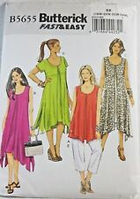 Plus Size Pattern Womens Dress Overlay Pants 18W 20W 22W 24W Butterick 5655 NEW