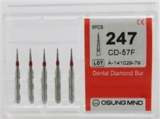 Dental Diamond Burs, Fine Grit Multi-Use, 5 Pcs/Pk [247CD-57F]