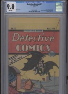 DETECTIVE COMICS #27 MT 9.8 CGC REPRINT OREO COOKIES GIVAWAY BOB KANE COVER