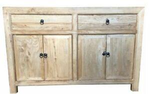 Hamptons beachy boho Recycled natural elmwood  Sideboard buffet storage 1.4m