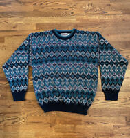 Saturdays Men's Vintage VTG Acrylic Sweater Cosby 80s 90s Size Large