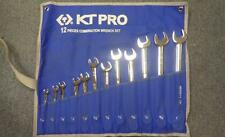 "KT PRO 12 Piece Combination Wrench Set with Roll Up Case 5/16""-1"""