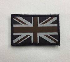 Union Jack Subdued Badge TRF Military Army Sleeve Arm Patch Hook Loop